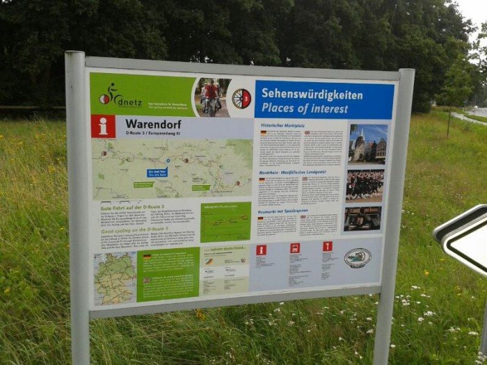 Radweg D3 bei Warendorf