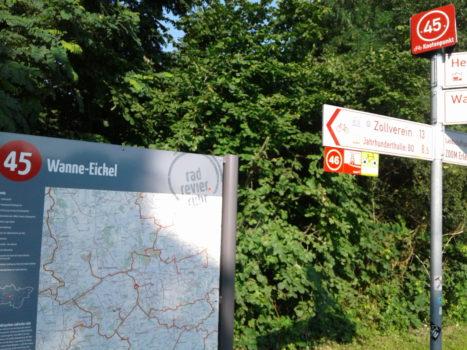 Radnetz NRW Übersichtskarte Erzbahntrasse